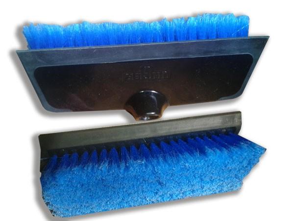 Waschbürste blau25 cm mit umlaufender Gummilippe